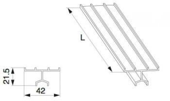 Binario Guida Superiore HS MAICO Universale Basso L=3.500mm Argento