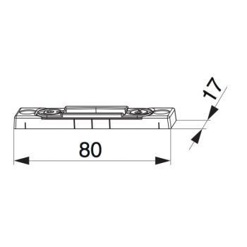 Scontro scrocco cremonese portafinestra battuta liscia/18 regolabile argento