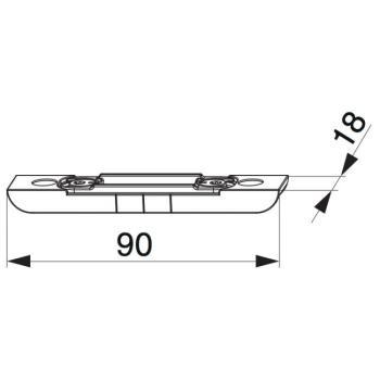 Scontro scrocco cremonese portafinestra per A4 regolabile argento