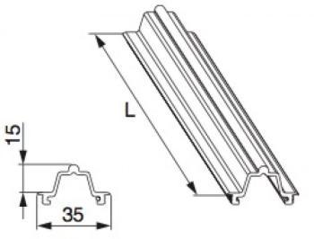 Binario Scorrimento Soglia HS MAICO Vetroresina Alto L=3.500 mm Argento