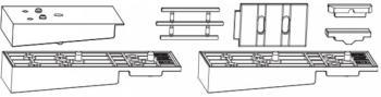 Confezione Accessori HS MAICO per Soglia in Vetroresina per Binario Basso su Soglia 68/23 e 28 mm Argento per Schema A