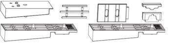 Confezione Accessori HS MAICO per Soglia in Vetroresina per Binario Alto su Soglia 68/23 e 28 mm Argento per Schema A