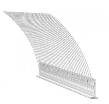 Profilo Maico per falsi telai in legno con rete porta intonaco per spalle con battuta lungo 2400 mm