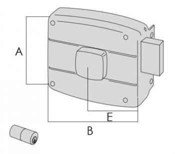 Serratura Cisa per portoncino applicare 2 mandate cilindro fisso pomolo interno - Mano destra entrata 70 mm