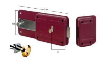 Ferroglietto Cisa con cilindro staccato e scrocco incorporato 6 mandate - Entrata 50 mm