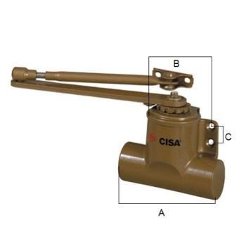 Cisa Chiudiporta tradizionale serie 601/T - forza 3