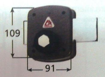 Ferroglierro CR a pompa applicare ambidestro cilindro corazzato antitrapano serie 1500 - Cor. Cat. 38 Diametro cilindro 27 mm