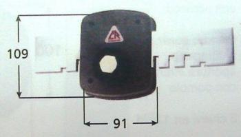 Ferroglietto CR a pompa applicare ambidestro cilindro corazzato antitrapano apertura interna con pomolo serie 1500L