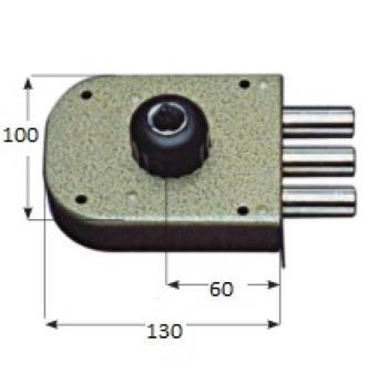 Serratura CR a pompa applicare laterale cilindro corazzato apertura interna con pomolo serie 1600 - Mano destra Cor. Cat. 38