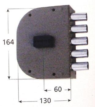 Serratura CR doppia mappa applicare laterale serie 2000 - Mano destra