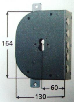 Serratura CR a cilindro applicare triplice 2 mandate attacco defender universale 38 mm - Mano destra Interasse 28 mm