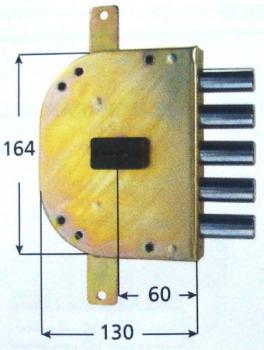 Serrature CR per blindate doppia mappa planare triplice 4 mandate - Mano sinistra Int 28 mm