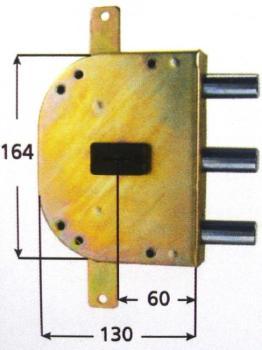 Serrature CR per blindate doppia mappa planare triplice 4 mandate - Mano destra Int. 56 mm