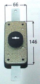 Deviatore CR a pompa applicare verticale apertura interna con chiave - Corsa Aste 24 Diametro Cil 27 mm