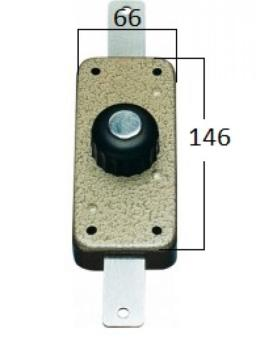 Deviatore CR a pompa applicare verticale apertura interna con pomolo - Corsa Aste 24 Diametro Cil 27 mm