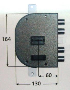 Serratura CR doppia mappa applicare triplice con scrocco - Mano destra Int. 28 mm