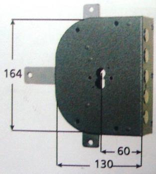 Serratura CR a cilindro applicare quintuplice 2 mandate attacco defender universale 38 mm - Mano sinistra Int 28
