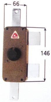 Deviatore CR a pompa applicare triplice apertura interna con pomolo - Mano destra Sp. Cilindro 50