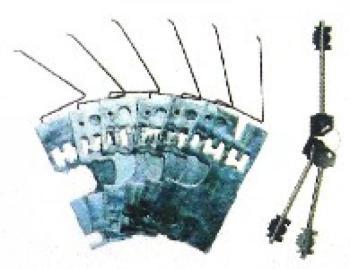 Gorges CR ambidestre per serrature cifratura KA serie: 2000 - 2200 - 2300 - 2201  2205 - 2600 - 2605