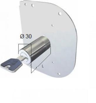 Cilindro CR a pompa con chiave punzonata per CR antitrapano - Lunghezza 80 mm