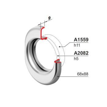 Protettore per cilindro elettronico DISEC Art. XE720LB + Mostrina Monolito Art. A2082 per protettore filettato Cromo Satinato