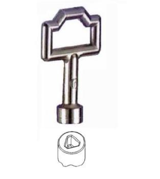 Chiave per cilindro box triangolare