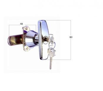 Chiusura a maniglia cromata MG5 Dx con serratura