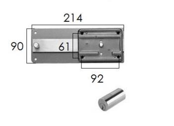 Ferroglietto Iseo con cilidro fisso per ferro con pomolo sblocca catenaccio interno - Entrata 60 mm