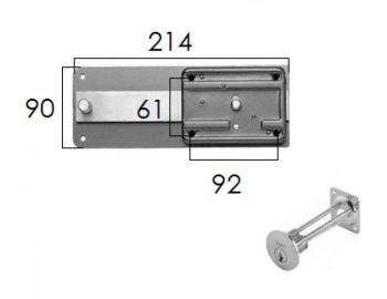 Ferroglietto Iseo con cilindro staccato 6 mandate - Entrata 50 mm