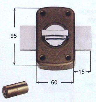 Serratura Iseo applicare verrou ambidestra 2 mandate pomolo interno e cilindro esterno