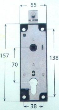 Serratura Iseo per porte basculanti con quadro 8 cilindro e profilo europeo