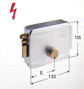 Elettroserratura Yale per cancelli applicare 12V c.a. cilindro esterno - Mano sinistra entrata 60 mm