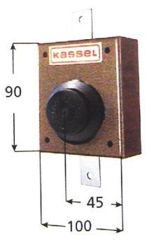 Serratura Kassel verticale con pomolo interno - Corsa aste 42 mm