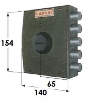 Serratura Kassel a pompa applicare laterale con apertura interna con chiave - Mano destra