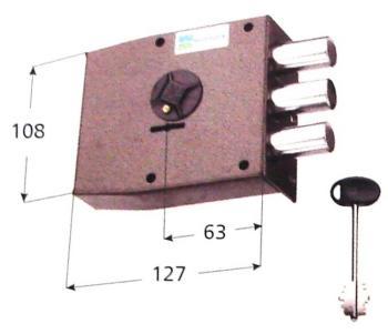 Serratura Mottura doppia mappa applicare laterale 4 mandate - Mano destra interasse 28 mm