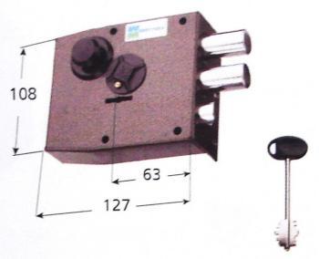 Serratura Mottura doppia mappa applicare laterale 4 mandate e scrocco -  Mano sinistra Interasse 28 mm