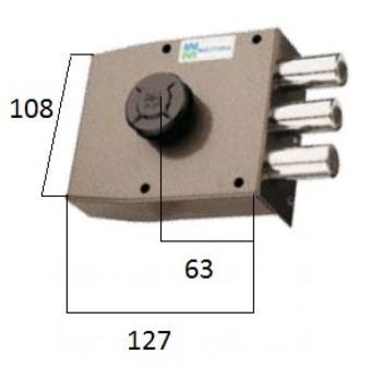 Serratura Mottura a pompa applicare laterale con cilindro antistrappo - Mano destra