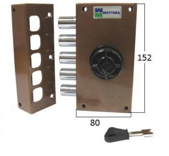 Serratura Mottura a pompa applicare laterale cilindro antistrappo - Mano sinistra
