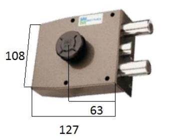 Serratura Mottura a pompa applicare laterale con scrocco e cilindro antistrappo - Mano destra