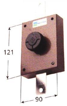 Deviatore Verticale Mottura apertura interna con pomolo autobloccante - Corsa aste 27