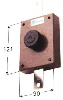 Deviatore verticale Mottura a pompa cilindro antistrappo apertura interna con chiave - Corsa aste 27 diametro cilindro 30 mm