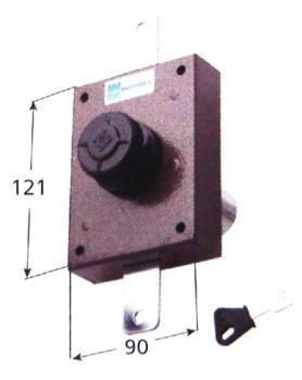 Deviatore verticale Mottura a pompa cilindro antistrappo apertura interna con pomolo - Corsa aste 27 diametro 30 mm