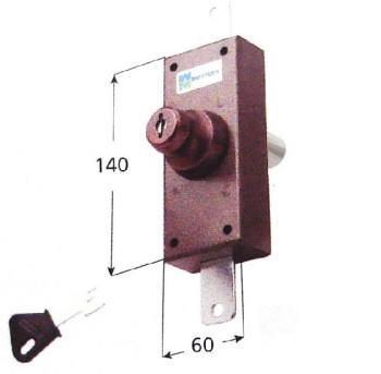 Deviatore verticale Mottura a doppia pompa cilindro antistrappo apertura con chiave interna ed esterna - Corsa aste 20