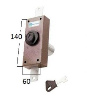 Deviatore verticale Mottura a pompa cilindro antistrappo apertura interna con chiave - Corsa aste 20 diametro 30