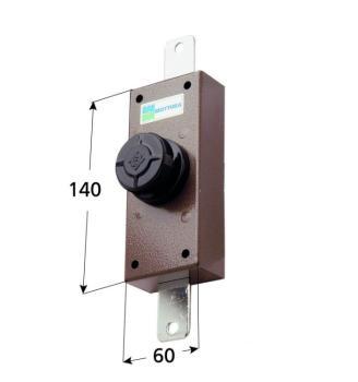 Deviatore verticale Mottura apertura interna con pomolo autobloccante - Corsa aste 20