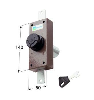 Deviatore verticale Mottura a pompa cilindro antistrappo apertura interna con pomolo - Corsa aste 20 diametro cilindro 30