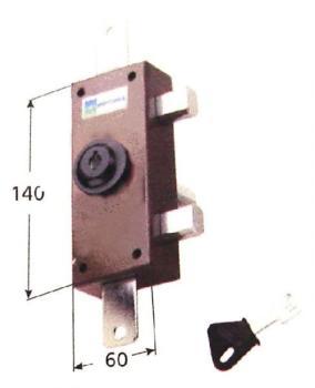 Deviatore triplice Mottura a pompa ambidestro cilindro antistrappo apertura interna con chiave - Lunghezza cilindro 50 mm