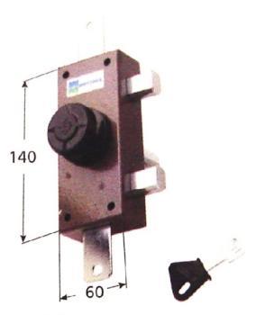 Deviatore triplice Mottura a pompa ambidestro cilindro antistrappo apertura interna con pomolo - Lunghezza cilindro 60 mm