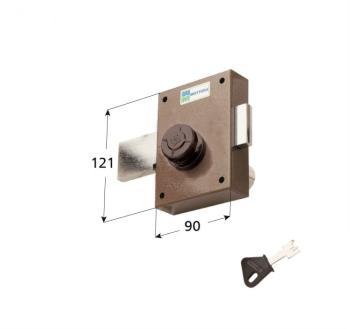 Ferroglietto laterale Mottura a pompa ambidestro cilindro antistrappo apertura interna con pomolo - Corsa Cat. 40