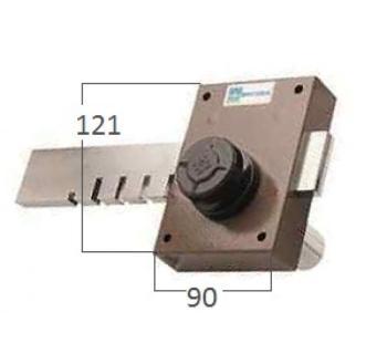Ferroglietto laterale Mottura a pompa ambidestro cilindro antistrappo apertura interna con pomolo - Corsa Cat. 120